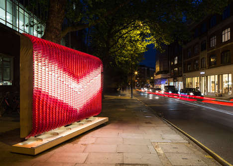 Glass Tile Billboards - These Stunning Billboards Direct You Around Clerkenwell Design Week 2016