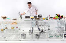 MVRDV's Infinity Kitchenette Clear Design Displays Food