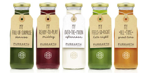 Bespoke Juice Cleanse Packaging - The Purearth Cleanse Juice Packages are Rustic and Personal