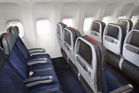 Premium Economy Airlines - American Air's Domestic Economy Cabin Offers Exlcusive Flyer Perks