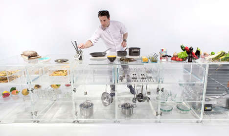 See-Through Kitchen Countertops - This Kitchen Makes Consumers Question Their Eating Habits