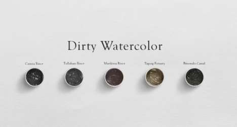 Dirty Water Artwork - This Art Exhibition Features Pieces Made from Dirty River Water