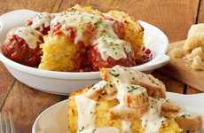 Fast Casual Spaghetti Pies - Olive Garden is Offering its Famed Pasta Dishes in New Serving Formats