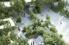Urban Communal Gardens - This Urban Garden Design Uses Indian Water Mazes as Its Inspiration