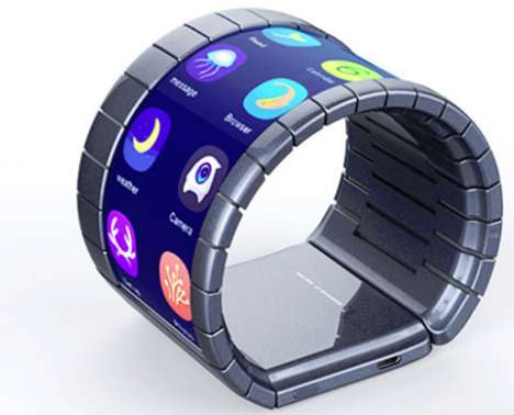 Flexible Bracelet Smartphones - Chinese Company Moxi Group Will Sell the First Bendable Smartphone
