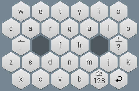 Digital Honeycomb Keyboards - The WRIO Expand the Surface Area of Phone Keys for Easier Typing
