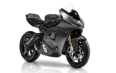 Electric Race Bikes - The Victory RR Superbike Features a Turbocharged Engine Setup