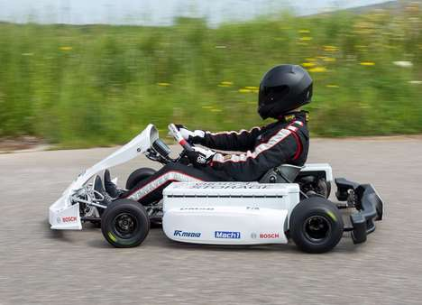 Speedy Electric Race Karts - The Bosch Electric Kart is Designed for Fast Racing without Gas