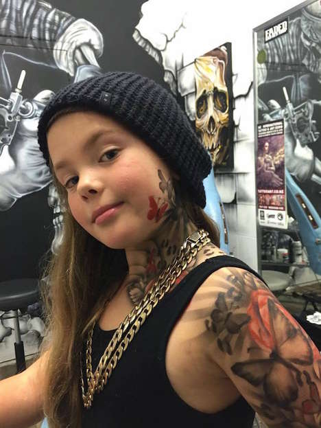 Charitable Children's Tattoos - This Artist is Inking Sick Children with Temporary Airbrush Tattoos