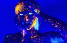 Neon UV Light Portraits