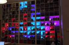 Digital Puzzle Bookshelves - Øyvind Berntsen Tranformed His Bookshelf into a Tetris Game