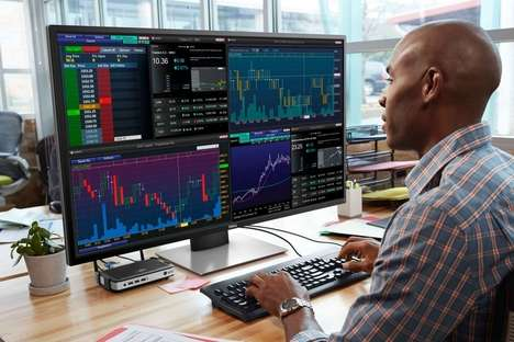 Multi-Screen Monitors - The Dell 43 Multi-Client Monitor Can be Configured into Four Screens