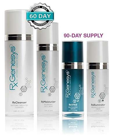 Wrinkle-Smoothing Skincare Regimens - The RxGenesys 4-Piece Stem Cell Beauty System is Comprehensive
