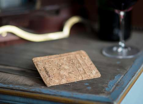 Minimalist Cork Wallets - This Super Slim Minimalist Wallet is Surprisingly Made From Cork