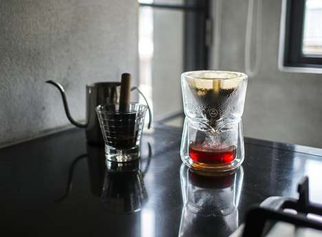 Personalized Coffee Drippers - The Gaze Features a Double Glass Wall to Perfectly Brew Blends