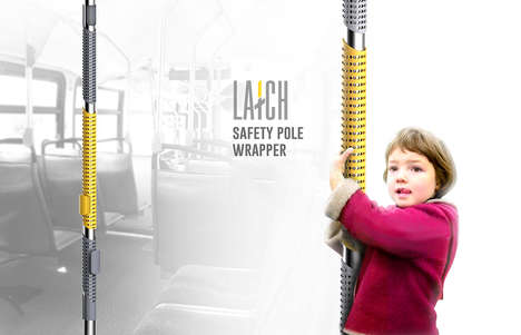 Transporation Pole Wrappers - The Latch is a Plastic Grip System for Poles on Buses and Subways