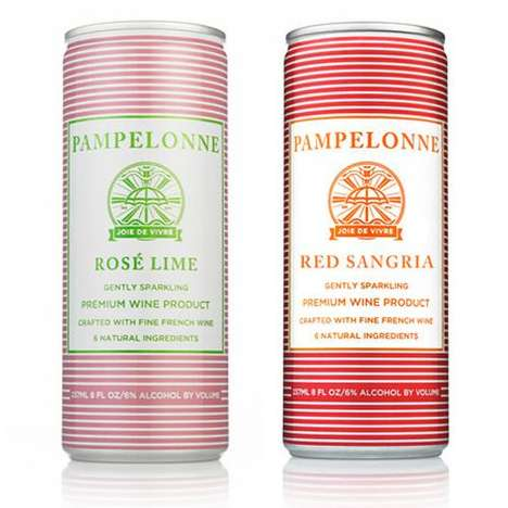 Nautical Wine Cans - This Canned Wine From Pampelonne is Best Suited for Lounging on the Beach