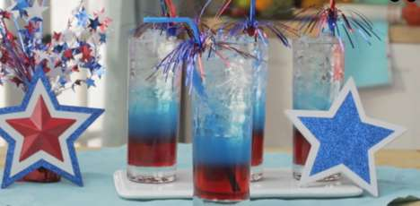 Layered Patriotic Beverages - This Fourth of July Drink Features a Layered Aesthetic for All Ages