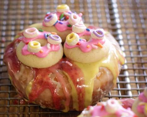 Donut-Topped Donuts - The Sparkle Dazzle Rainbow Fried Desserts are Deceivingly Vegan