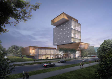 Towered Scholarly Hubs - The University of Chicago Campus Redesign Opts for Structured Spires