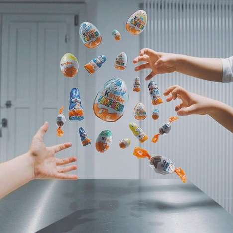 Suspended Food Social Media - The 'Kitchen Suspension' Instagram Shows Food in Zero-Gravity Kitchens