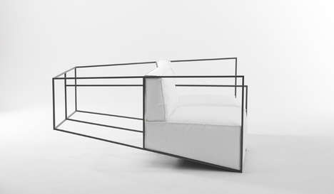 Illusionary Framed Sofas - The Ixorb Furniture Explores Perception and Perspective With Wire Design