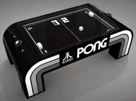 Retro Video Game Tables - The 'PONG PROJECT' Sees the Pong Video Game as a Tabletop Game
