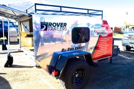 Stainless Steel Trailers - The All Over Rover Trailer Features An Shiny Aluminum Shell