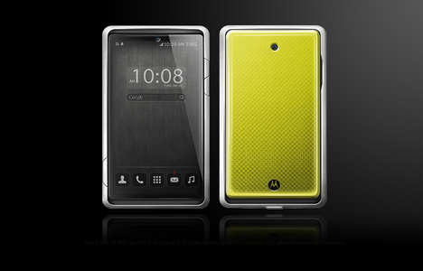 Metal Bezel Smartphones - This Motorola Smartphone Concept Sees the Device Embrace Larger Size