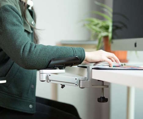Posture-Improving Desk Arm Supports - The JINCOMSO Desk Arm Support Alleviates Wrist Stress