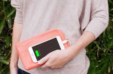 The Clutchette Power Charging Clutch Purse is Made from Vegan Leather