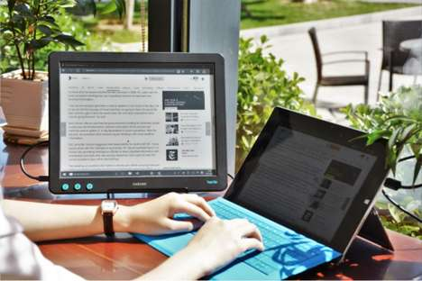 Portable E Ink Monitors - The Dasung 'Paperlike' E Ink Portable Display Works in Direct Sunlight
