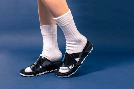 High-Fashion Sport Sandals - The NikeLab Taupo Sandals Have a Durable Grip and Patent Leather Upper