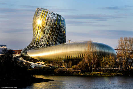 French Wine Theme Parks - 'La Cite Du Vin' is a Theme Park in France Dedicated to Wine