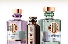 The LE TRIBUTE Cocktail Bottle Designs are Contemporary and Classic