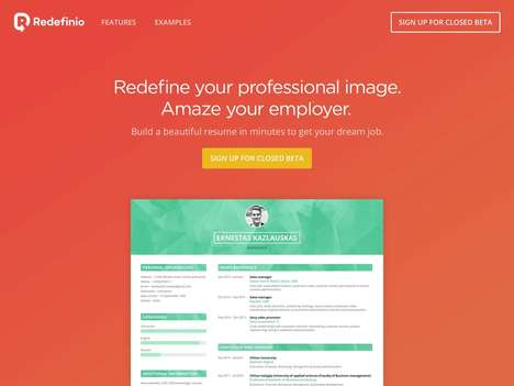 Free Resume Builders - Online CV Builder Redefinio Helps You Easily Create an Eye-Catching Resume