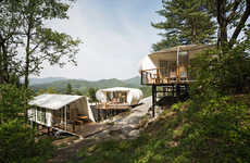 Revitalized Glamping Experiences - This Camping Facility Features Livable Pods and Cabins