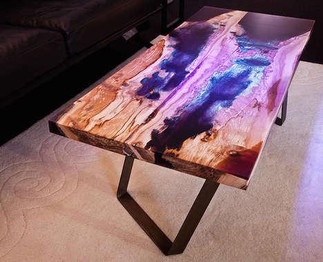 Multi-Hued Wood Tables