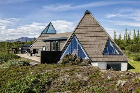 Pyramid-Shaped Vacation Homes - This Pyramid Cottage Offers Panoramic Views of Its Surroundings