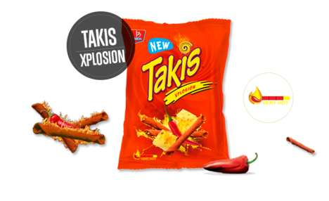 Spicy Rolled Tortilla Chips - Barcel's 'Takis Xplosion' Puts a Spicy Twist on Classic Tortilla Chips