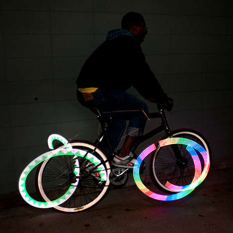 LED Bike Spoke Lights - These Colorful LED Lights Attach to Your Bike Spokes to Increase Visibility