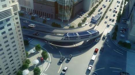 Elevated Tunnel Buses - The 'Transit Elevated Bus' Moves Overtop of Traffic For A Speedier Ride Time