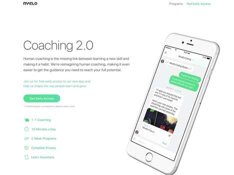 Mindfulness Coaching Apps - Mazlo Offers Personalized Learning with Text Message Coaching Sessions