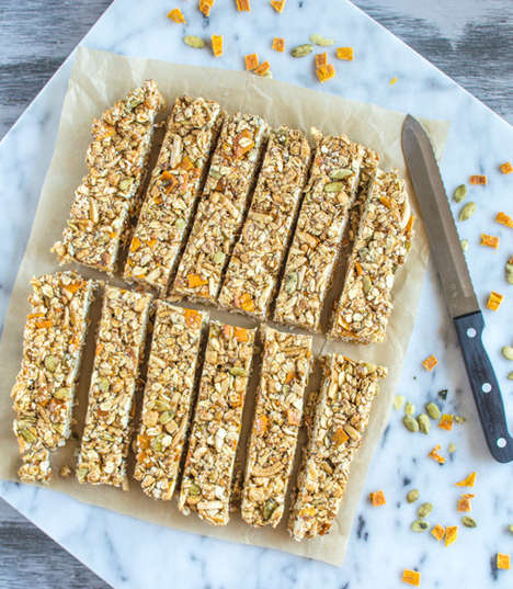 Spicy Mango Granola Bars - These Homemade Snack Bars Have an Unusual Chili and Mango Flavor