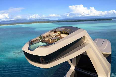 Opulent Spire Yachts - The Shaddai Luxe Boat Features an Onboard Viewing Tower and an Infinity Pool
