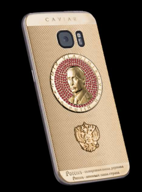 Gilded Presidential Smartphones - Caviar Turned the Galaxy S7 Smartphone into a Russian Collectible