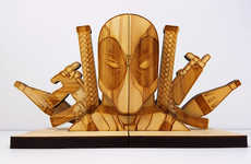 Pop Culture Superhero Bookends