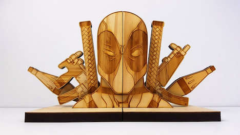 Pop Culture Superhero Bookends - This Etsy Artist Uses Pop Culture to Inspire Artistic Bookends