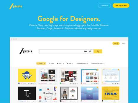 Design Imagery Search Engines - The 'SlashPixels' Image Search Engine is for Digital Designers