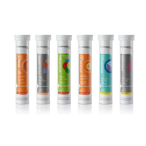 Sparkling Supplement Packaging - The Isoplus Effervescent Tablets are Designed for Diet Support